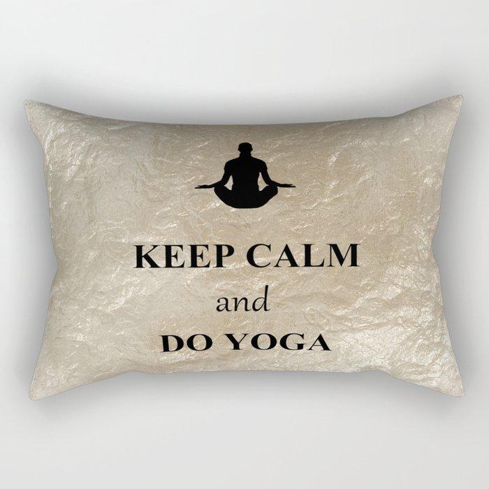 Keep Calm and Do Yoga Rectangular Pillow