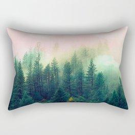 Watercolor mountain landscape Rectangular Pillow