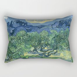 The Olive Trees by Vincent van Gogh Rectangular Pillow