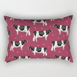 Holsteins // Cranberry Rectangular Pillow