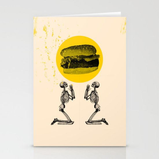Hamburger Pray Stationery Cards