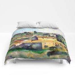 1895 - Paul Cezanne - Fields at Bellevue Comforters