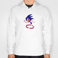 sonic Hoodies featuring Sonic by DROIDMONKEY