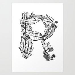 "Native Texas Plants ""R"" Art Print"