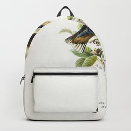Hawfinch (Coccothraustes coccothraustes) illustrated by the von Wright brothers Backpack