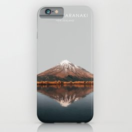 Mount Taranaki, New Zealand Artwork iPhone Case