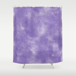 Abstract Watercolor in Ultra Violet Pantone color of year 2018 Shower Curtain