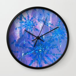 Abstract Flower Painting Design By Catherine Coyle Wall Clock