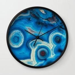 Blue Raindrop Agate 0026 Wall Clock