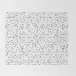 Funny sheeps Throw Blanket