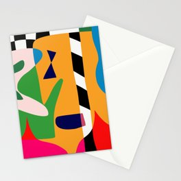 Bold and vibrant abstract shapes Stationery Cards