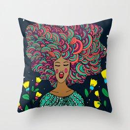 Singing Girl Throw Pillow