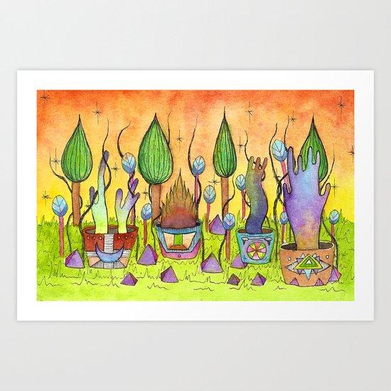 Dream Garden 1 Art Print