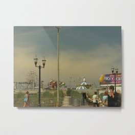 Ride the Wild Mouse, Atlantic City Metal Print