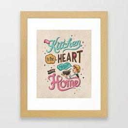The Heart Of The Home Framed Art Print