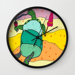 Turtle Beach Party Wall Clock