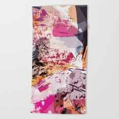 7: a vibrant abstract in jewel tones Beach Towel