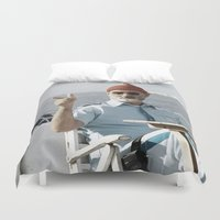 the life aquatic Duvet Covers featuring LIFE AQUATIC by VAGABOND