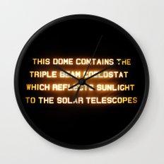 Triple Beam Coelostat Wall Clock