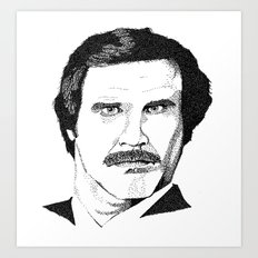 I'm Ron Burgundy? Art Print