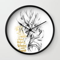 dragonball Wall Clocks featuring Dragonball Z - Honor by Straife01