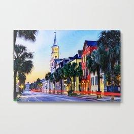 French Quarter at Dawn, Charleston, South Carolina Portrait Metal Print