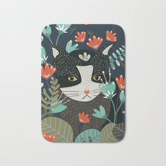 Curious Cat Bath Mat