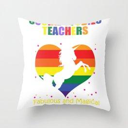Social Studies Teachers Are Like Unicorns print Throw Pillow