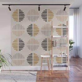 Warm Boho Abstract Geometric Pattern Wall Mural