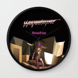 Waveshaper 80s synthwave cyberpunk robot Wall Clock