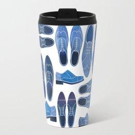 Blue Brogue Shoes Travel Mug