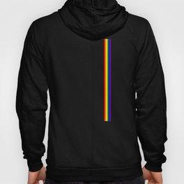 Gay Pride LGBT Subtle Rainbow Stripe Vertical Flag print Hoody