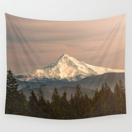 Mount Hood Vintage Sunset - Nature Landscape Photography Wall Tapestry
