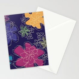 Floral - #Bright #Flowers #Abstract #Pattern Stationery Cards