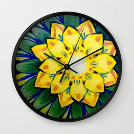 July Flower Wall Clock