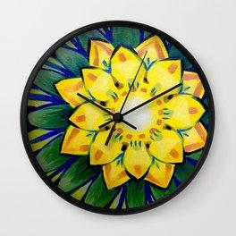 July Flower Wall Clock