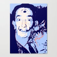 dali Canvas Prints featuring Dali  by old opps