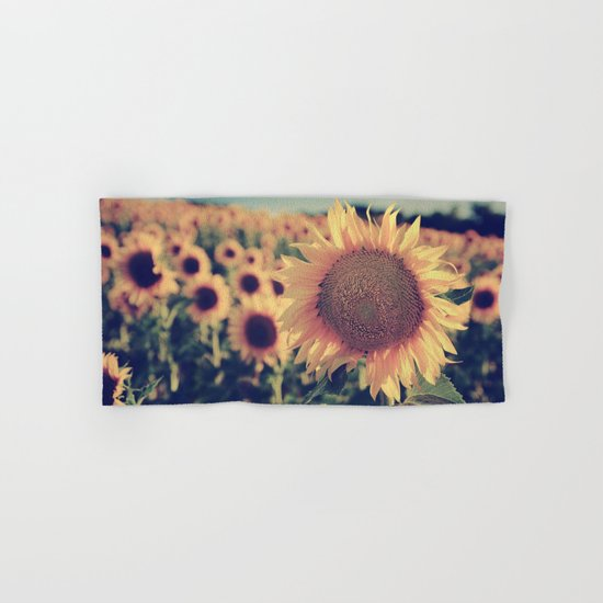 """Sunflowers"" Vintage dreams Hand & Bath Towel"