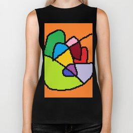 abstract heart art Biker Tank