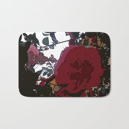 Abstract Roses Bath Mat