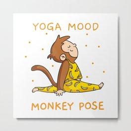 Yoga Mood - Monkey pose Metal Print