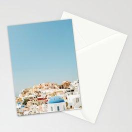 View of Santorini Island Greece Oia Stationery Cards