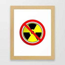 No Nuclear Symbol Framed Art Print