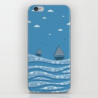 boats iPhone & iPod Skins featuring Boats by Matt Andrews