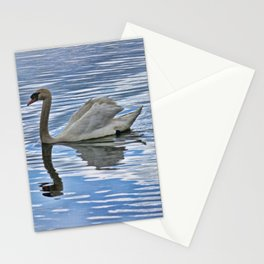 Proud mute swan Stationery Cards