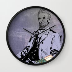 Inked Lincoln Wall Clock
