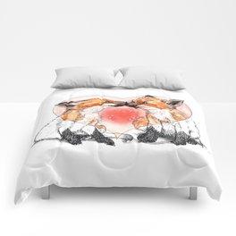 baby fox love Comforters