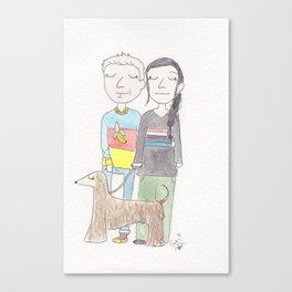Walkies Canvas Print