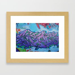 Santa Fe Grafitti Framed Art Print