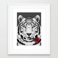 rose Framed Art Prints featuring Rose by Roland Banrevi
